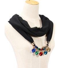 collana di chiffon etnico collana di fascino in cristallo collana accessori casual per le donne