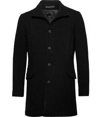 slhmorrison wool coat b noos yllerock rock svart selected homme