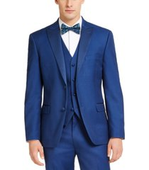 alfani men's slim-fit stretch blue tuxedo jacket, created for macy's