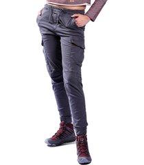pantalon brahma mujer gris pan0040-gri
