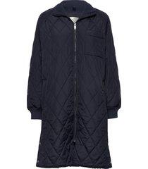 ektraiw quilted coat doorgestikte jas blauw inwear