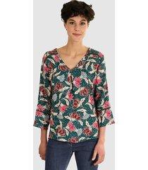 blouse dress in dennengroen