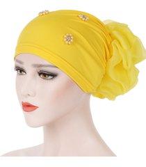 cappello da donna pan fiore oversize con fiore foulard cappello berretto in cotone tinta unita