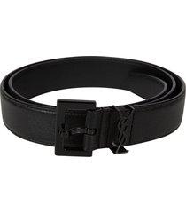 saint laurent loop logo detail belt