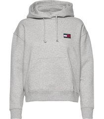 tjw tommy badge hoodie hoodie grå tommy jeans