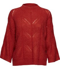 pomme knit o-neck gebreide trui rood second female