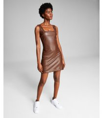 and now this women's faux-leather dress