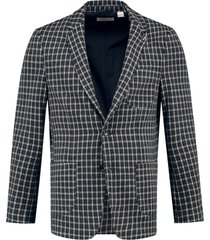 blazer mini check donkerblauw