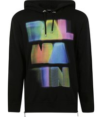 balmain colored logo print hoodie