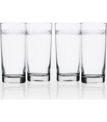 rolf glass cast of crabs cooler highball 15oz - set of 4 glasses