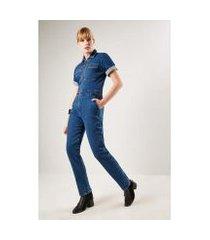 macacão jeans sacada vintage feminino