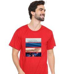 camiseta sandro clothing life vermelho - vermelho - masculino - dafiti