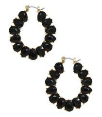 ettika statement crystal hoop earrings