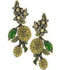 heidi daus women's a lot of lemons crystal drop earrings