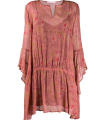 kristina ti lightweight floral dress - pink
