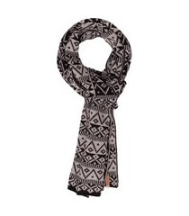 manta tricot etnico jimmy - cinza