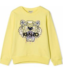 kenzo yellow cotton sweatshirt