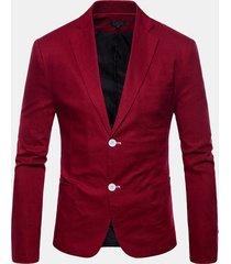 blazer solidi casual slim fit per uomo