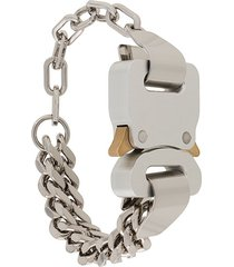 1017 alyx 9sm buckled chain bracelet - silver