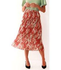 falda midi plisada  para mujer color-multicolor-talla-10