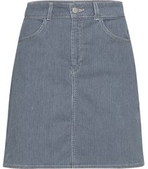 stretchy hickory steffi s knälång kjol blå mads nørgaard