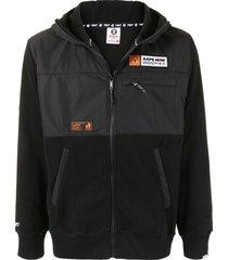 aape by *a bathing ape® zip-up hooded jacket - black