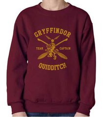 captain - new gryffindor quidditch team captain y ink crewneck sweatshirt maroon