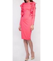 sukienka neonoworóżowa