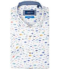 bos bright blue craig overhemd korte mouw rf 21107cr51bo/500 multicolour