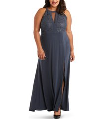 morgan & company trendy plus size sequined-bodice gown