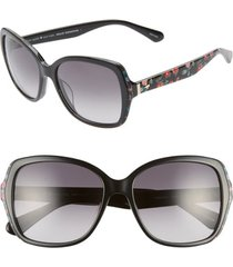 women's kate spade new york karalyns 56mm gradient butterfly sunglasses - black/ gold