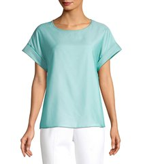 peserico women's voile tee - turquoise - size 40 (4)