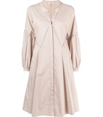 dorothee schumacher poplin power stretch-cotton dress - neutrals