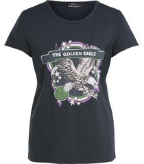 t-shirt met print eagle  zwart