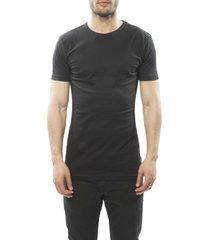 claesens men t-shirt round neck black ( 1020 two-pack)
