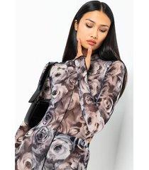 akira get me roses mesh long sleeve bodysuit