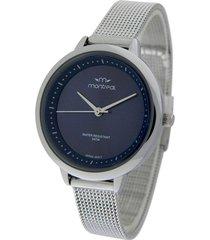 reloj plata montreal acero tejido