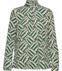 aderyn printed blouse blouse lange mouwen groen morris lady