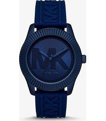 mk orologio maddye oversize color navy con cinturino in silicone - blu brillante (blu) - michael kors