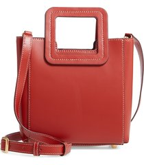staud mini shirley genuine shearling satchel -