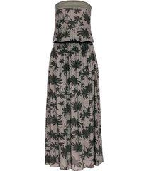 abito lungo fantasia con scollo a fascia (verde) - bodyflirt