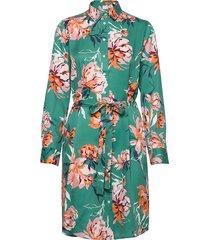 d1. peonies print shirt dress korte jurk groen gant