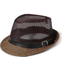 cappello a falda larga intrecciato
