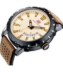 reloj análogo mf0150g-3 hombre beige