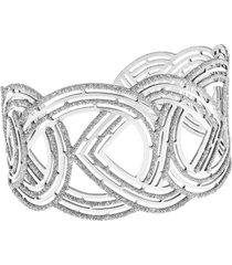 bracciale in argento 925 rodiato e glitter per donna