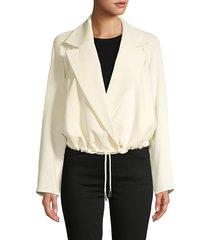 lafayette 148 new york women's zaylee topper jacket - cornsilk - size l