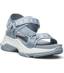 magnitude sandal shoes summer shoes flat sandals grå steve madden