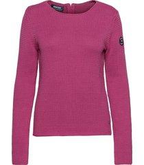 archipelago knit jumper stickad tröja rosa sebago