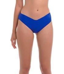 bikini calzón tanga alto azul samia