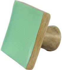 cabide madeira quadrado dc1704 a7,8xl8,3xp6cm - besha